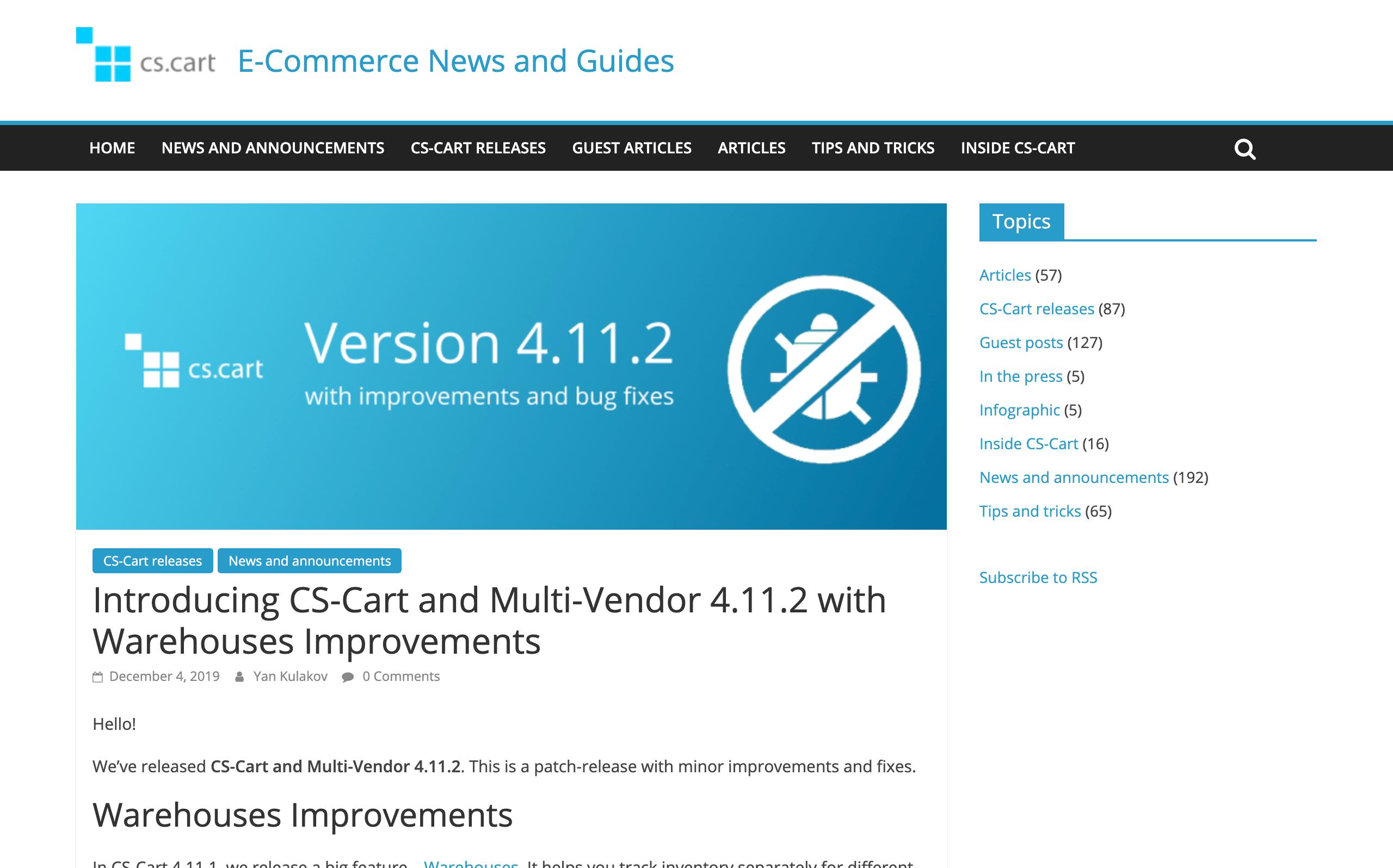 CS-Cart 4.11.2