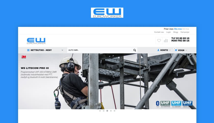 Euroworker: Norway Supplier of Communication Equipment for Public and Private Businesses