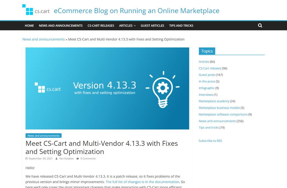 Meet CS-Cart and Multi-Vendor 4.13.3 with Fixes and Setting Optimization