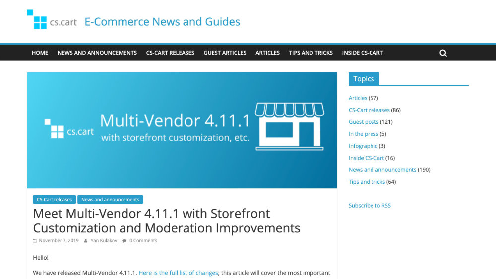 CS-Cart Multi-Vendor 4.11.1