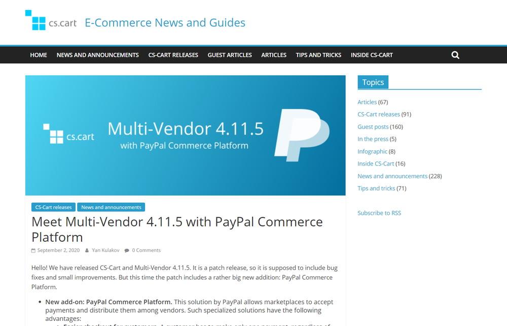 Meet Multi-Vendor 4.11.5 with PayPal Commerce Platform