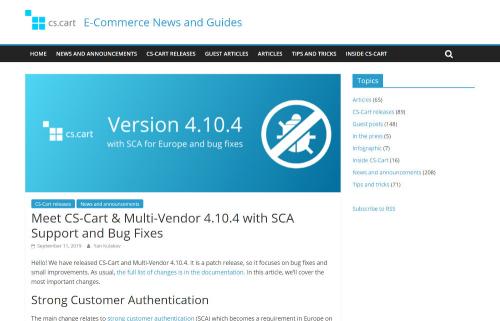 CS-Cart and Multi-Vendor 4.10.4