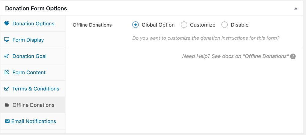 ネット以外の寄付(無効化)