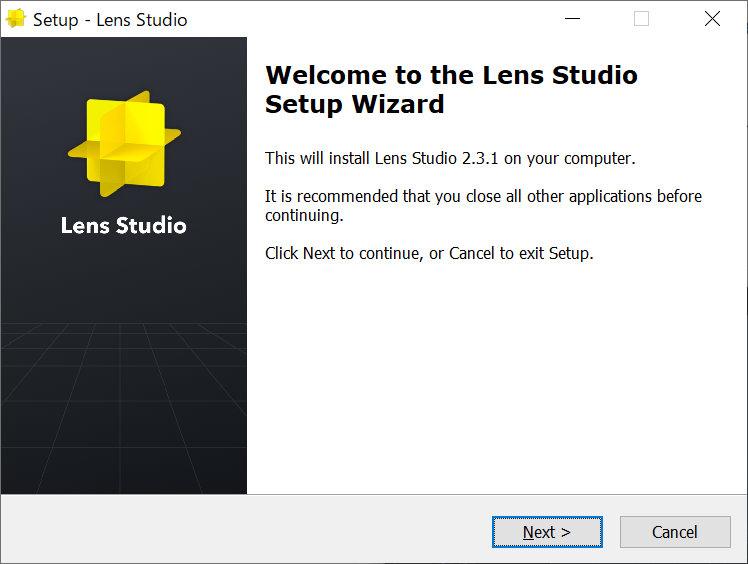 Lens Studioのインストーラー
