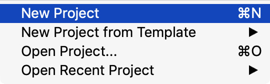 新たにプロジェクトを作成
