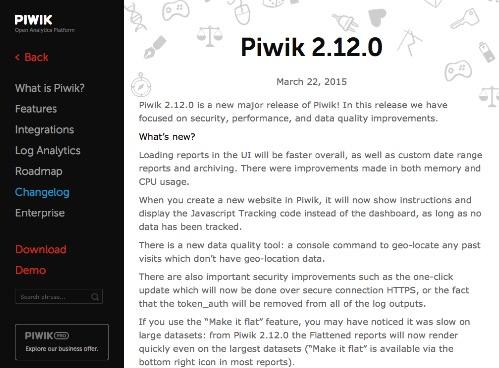 Piwik 2.12.0