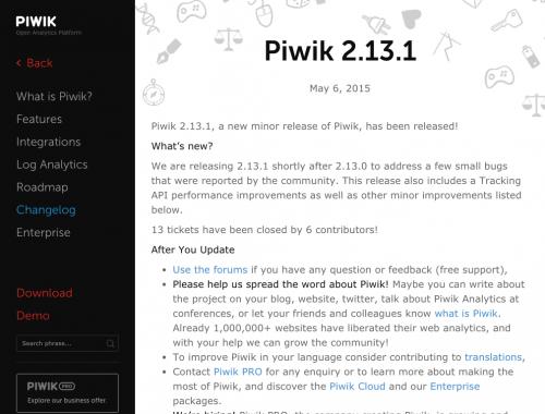 Piwik 2.13.1