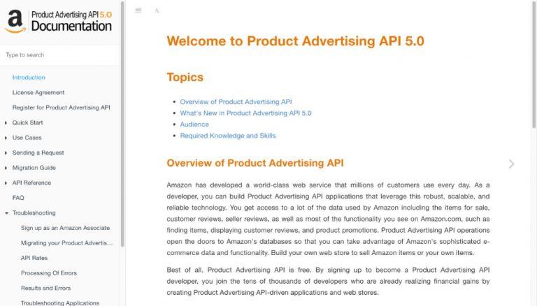 Product Advertising API 5.0 Documentation