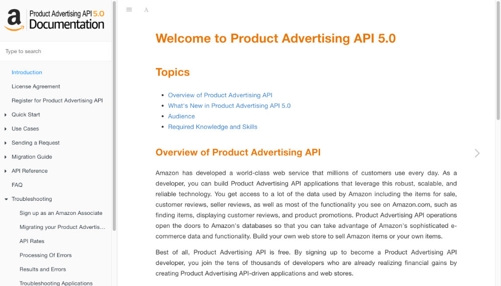 Product Advertising API 5.0 Documentation
