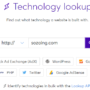 Wappalyzer Technology lookup