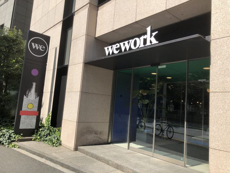 WeWork 新橋 入口