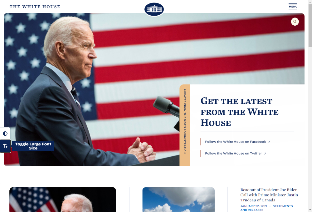 The White House:大きなフォント
