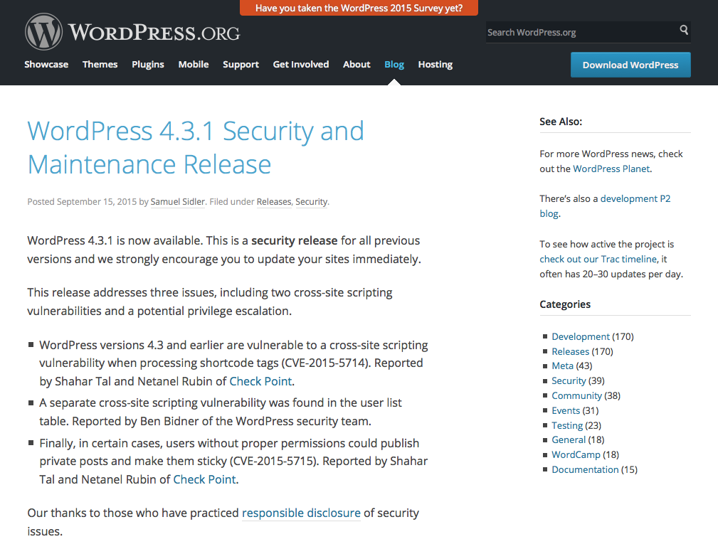 WordPress 4.3.1