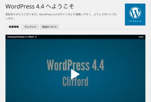 "WordPress 4.4 ""Clifford"""