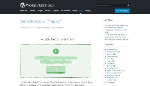 "WordPress 5.1 ""Betty"""