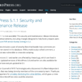 WordPress 5.1.1 Security and Maintenance Release