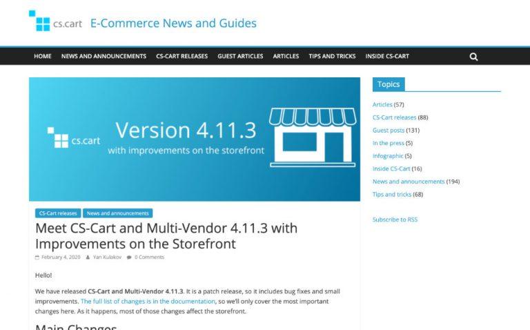 CS-Cart and Multi-Vendor 4.11.3