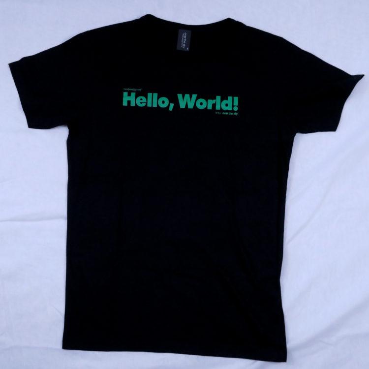 プログラミングの基本!「Hello World!」Tシャツ