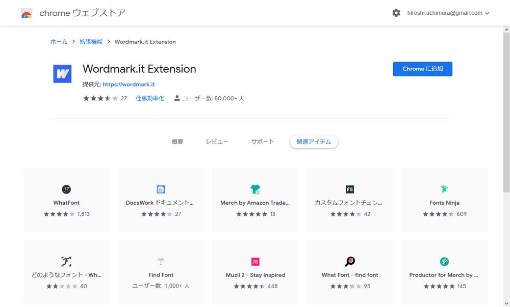 wordmark.it Extension